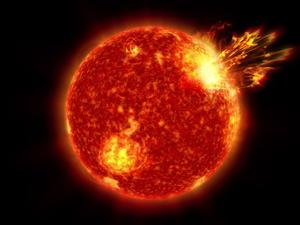Massive solar flares key to early life on Earth