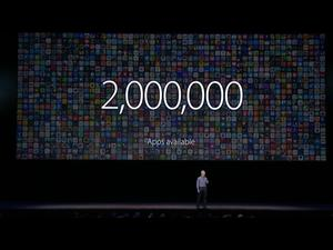 2 million iOS apps now in iTunes app store; 130 billion apps downloaded
