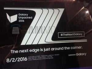 Leaked Galaxy Note 7 poster hints at August 2 unveiling