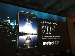ZTE ZMAX Pro official with a fingerprint scanner for $99 on MetroPCS