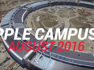 New Apple Campus 2 drone video shows nearly complete structure