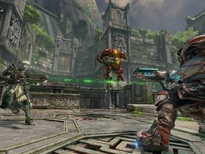 Quake Champions gameplay debuts! Rocket jumps explode our nostalgia!