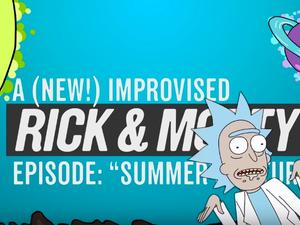 Rick and Morty is back (sort of) in this improvised mini-episode