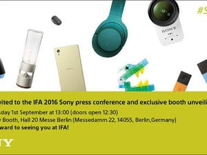 New Sony smartphones, cameras and more teased in IFA invite