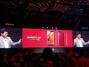 Huawei reveals red and blue versions of P9