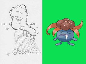 Artist unfamliar with Pokémon draws characters based on names only, produces brilliant results