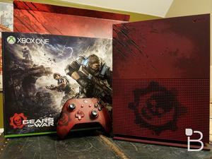 The Gears of War themed Xbox One S is pretty incredible, here it is unboxed