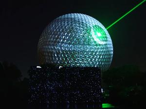 Disney World transformed Epcot's Spaceship Earth into the Death Star