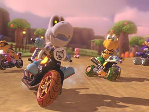 How to pick the season in Mario Kart 8 Deluxe's Animal Crossing track