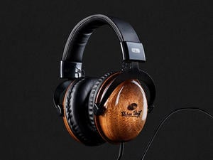 These wood-crafted headphones let you rock out in absolute style—now $125 off