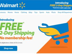 Walmart takes on Amazon, launches free 2-day shipping for all