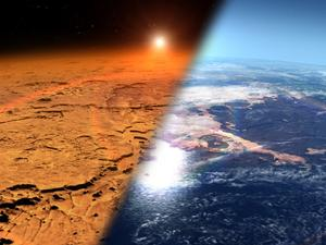 Mars' atmosphere was stripped away by solar wind billions of years ago