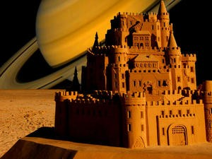Saturn's largest moon has electrified sand, castles could last for weeks