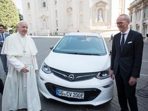 The Pope goes electric with his new Popemobile