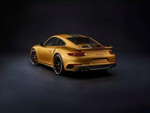 Porche's 911 Turbo S Exclusive Series is a 607 HP golden masterpiece