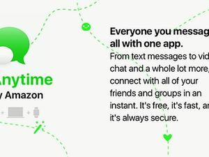Amazon will take on iMessage with new 'Anytime' messaging app