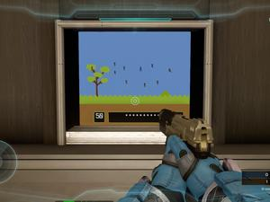 Here's Duck Hunt in Halo 5, because of course