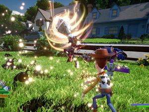 Kingdom Hearts III's Toy Story screenshots look like you're playing the movie