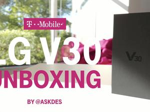 T-Mobile does an LG V30 unboxing with another V30