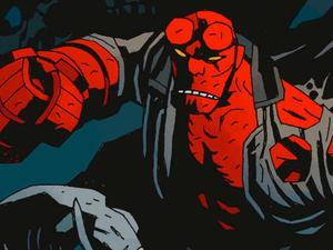 Here's your first look at the new Hellboy in the flesh
