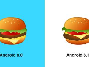 Google gets the burger emoji right in Android 8.1