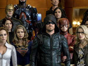 "CW's ""Crisis"" arc looks like a crossover for the ages in these new photos"
