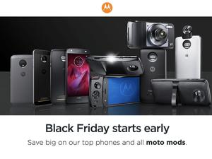 Moto Z2 Play, Moto G5 Plus, and Moto Mods discounted for Black Friday