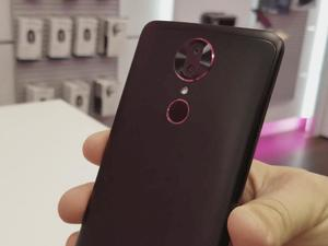 T-Mobile's Revvl Plus is big, but its price is small and has magenta accents