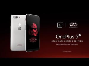 Star Wars-themed OnePlus 5T is official
