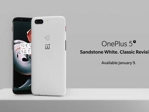 OnePlus 5T in Sandstone White is official