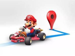 Become Mario and dodge traffic in Google Maps