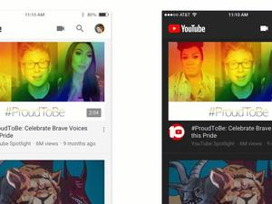 YouTube mobile apps are getting a sleek, new dark mode today