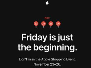 Apple Announces 4-Day Black Friday Shopping Event