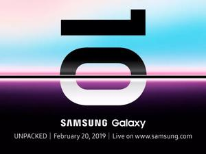 Samsung Will Unveil Galaxy S10, Foldable Smartphone on February 20