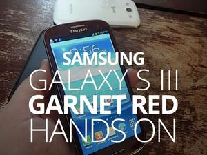 AT&T's Garnet Red Samsung Galaxy S III Hands-On (Video and Gallery)