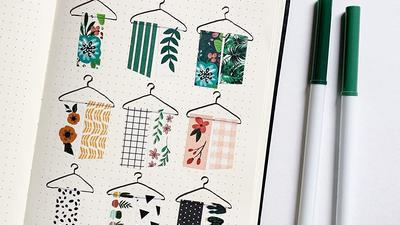 Add some decoration flair to your journal with washi tape