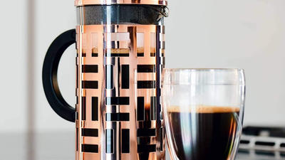Press better coffee with a French press coffee maker