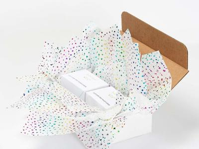 Add flair to your gift wrap with this tissue paper