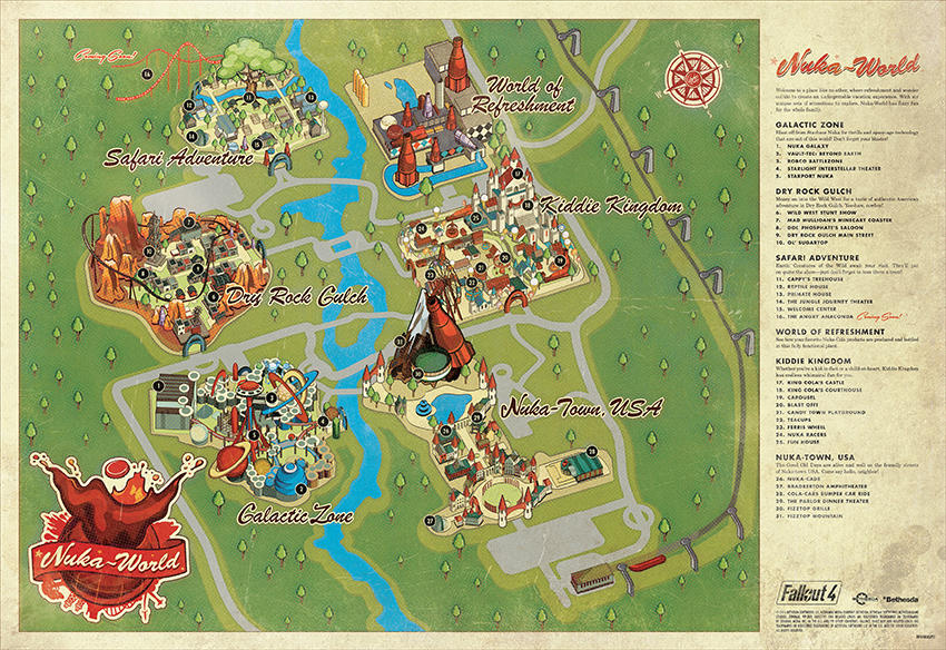 Fallout 4\'s Nuka-World map looks straight out of Disney ...