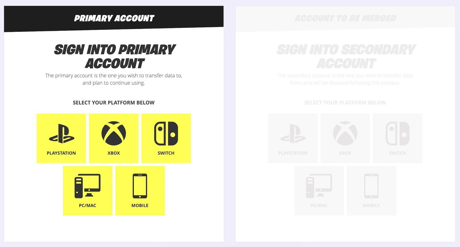 How to merge Fortnite accounts on PS4, Xbox One, and Nintendo Switch