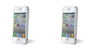 white iPhone 4 icons from iTunes
