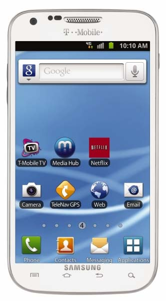 Samsung Galaxy S II in white for T-Mobile - front