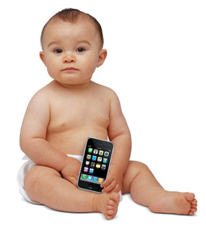 Baby with iPhone