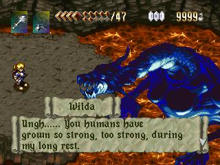 Alundra Fights Dragon