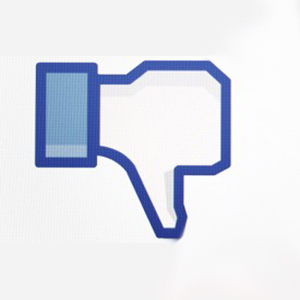 Facebook thumbs down dislike