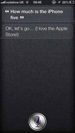 Searching Apple Store with Siri