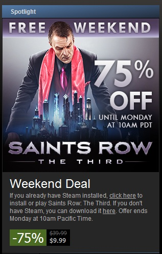 Saints Row - The Third - Free Weekend